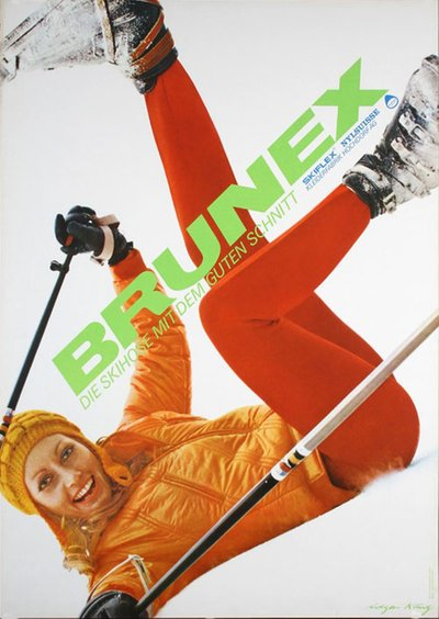 Brunex Ski Pants original poster designed by Küng, Edgar (1926 -)