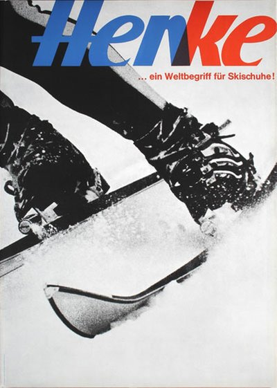 Henke Ski Boots Switzerland original poster designed by Biland