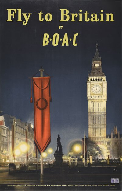 Fly to Great Britain by Boac original poster