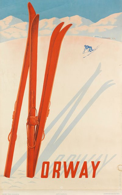 Norway Ski Poster original poster designed by Lemeunier, Claude (1928-2010)