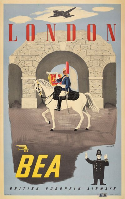 BEA London original poster designed by Bainbridge, John (1918-1978)