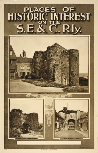 Places of Historic Interest on the S.E. & C.Rly. Ypres Castle original poster