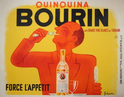 "Quinquina ""Bourin""  original poster designed by Bellenger"