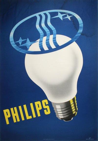 Original vintage poster: Philips Light Bulbs