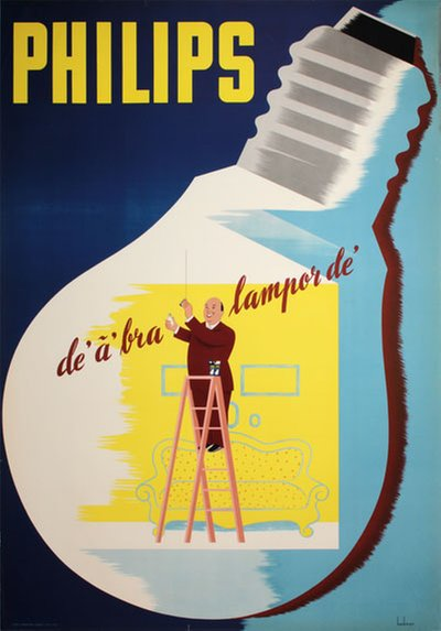 Philips de' a' bra lampor de' original poster designed by Beckman, Anders (1907-1967)