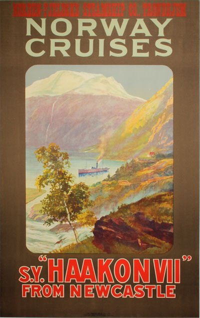Norway Cruises SY Haakon VII from Newcastle original poster