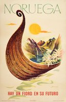 Noruega-Viking-ship-travel-poster-Norway-original-poster
