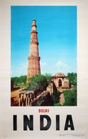 Delhi-India-1958-travel-poster
