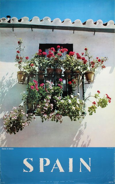Spain Andalusia Primavera original poster