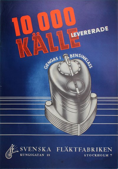 Gengas Källe  Charcoal gasifier original poster