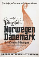 Norwegen-Danemark-Lloyd-original-poster