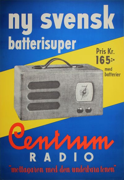 Centrum Radio Batterisuper original poster