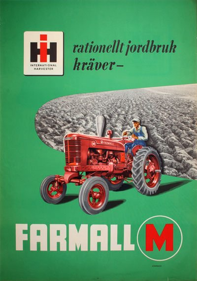 International Harvester Farmall original poster designed by Lomander