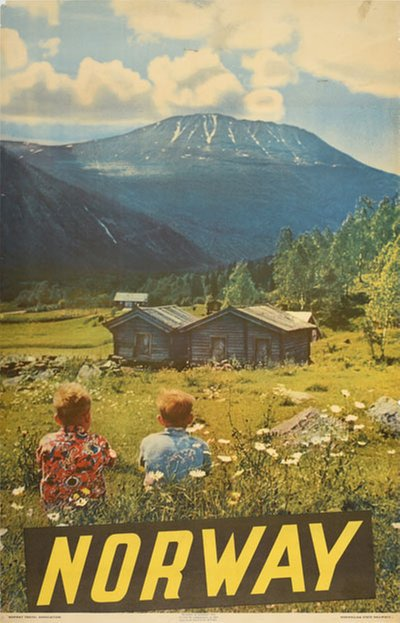 Norway 1955 original poster designed by Photo: Mittet