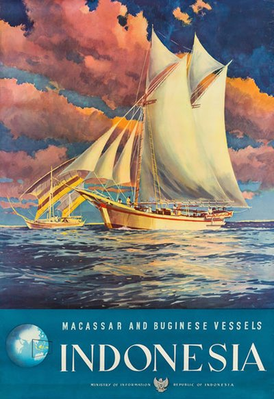Indonesia Macassar and Buginese Vessels original poster