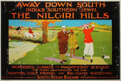 India The Nilgiri Hills original poster designed by Taylor (Fred?)