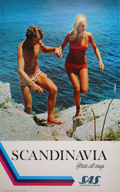 SAS Scandinavia yours all-ways original poster