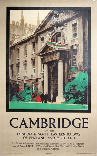 Cambridge original poster designed by Taylor, Fred (1875-1963)