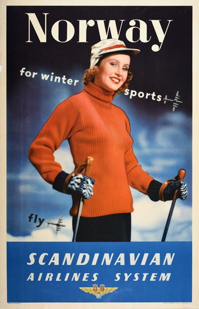 SAS Norway for winter sports original poster