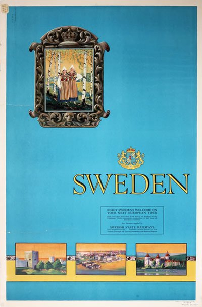Sweden 1925 Travel poster original poster