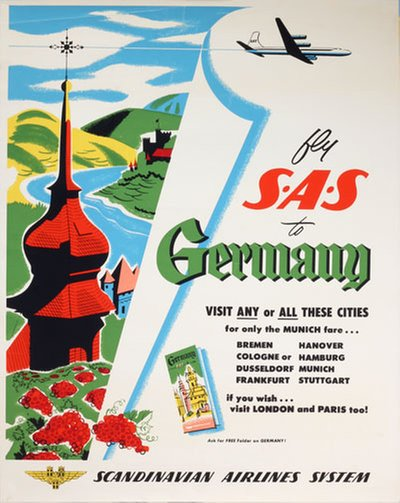 SAS to Germany original poster