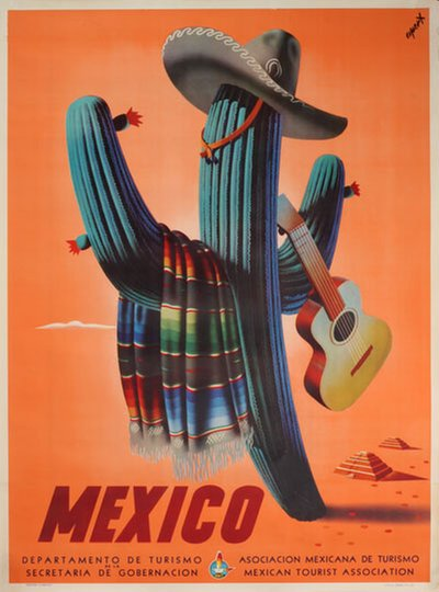 Mexico original poster designed by Espert