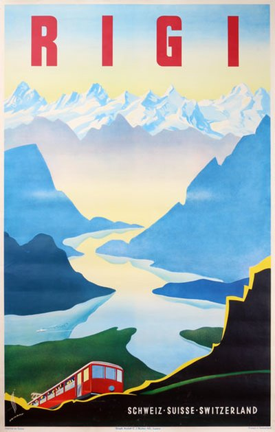 Rigi - Switzerland original poster designed by Peikert, Martin (1901-1975)