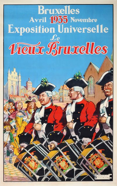 Bruxelles 1935 Exposition Universelle original poster designed by Thiriar, James (1889-1965)