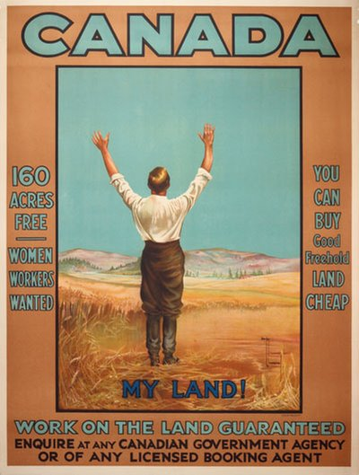 Canada - My Land! original poster designed by Hawley Morgan