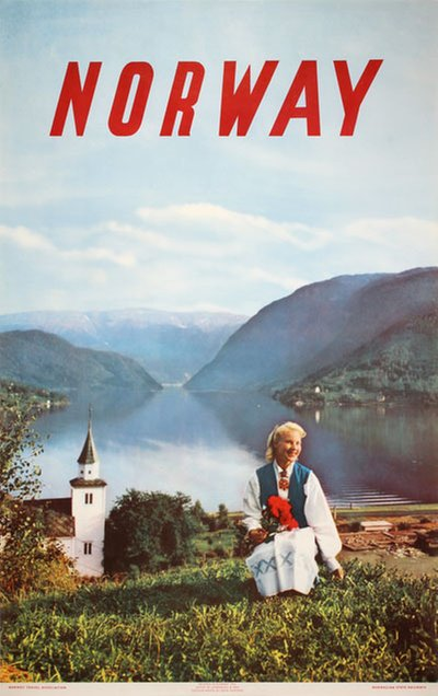 Norway Summer 1954 original poster designed by Photo: John Tedford