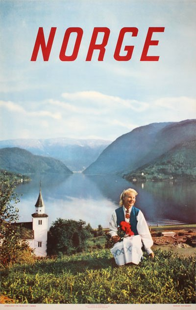 Norge 1954 original poster designed by Photo: John Tedford