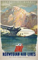 DNL-Norway-by-Airway-original-vintage-poster
