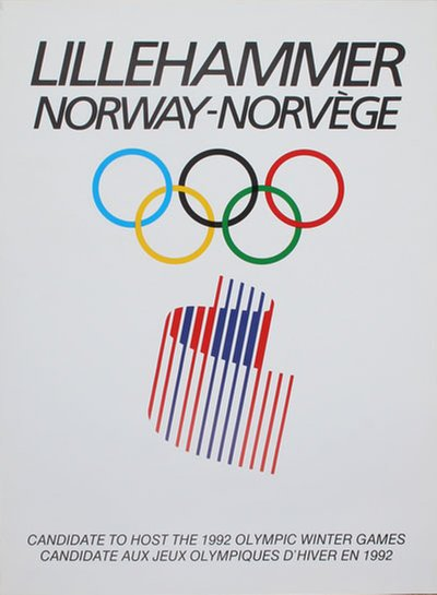 Lillehammer, Norway - Candidate 1992 Olympic Winter Games original poster
