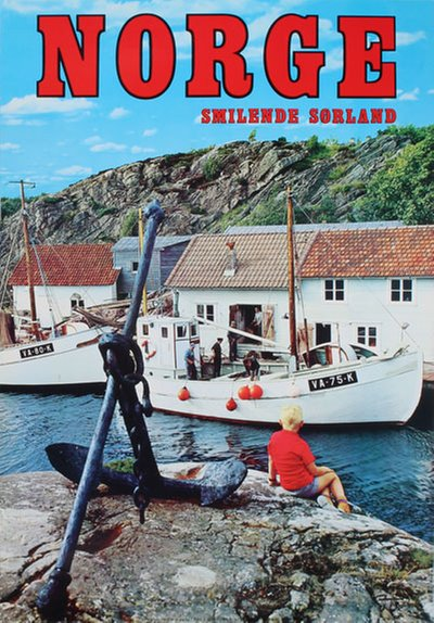 Norge Sørlandet original poster designed by Photo: G. Trimboli