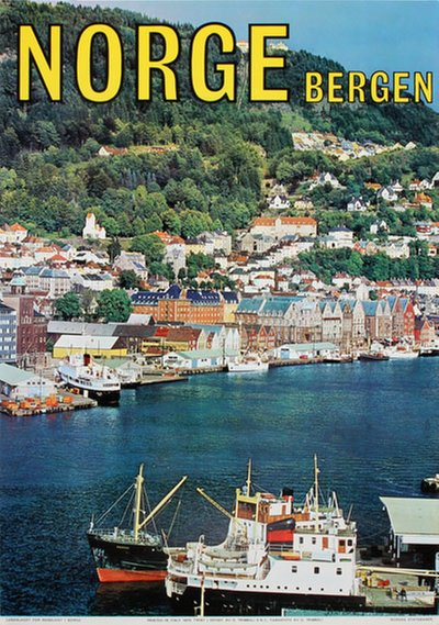 Bergen - Norge original poster designed by Photo: G. Trimboli