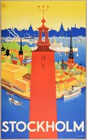 Stockholm-Iwar-Donner-original-affisch-travel-poster