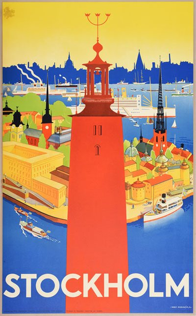 Stockholm - Sweden original poster designed by Donnér, Nils Olof Iwar (1884-1964)