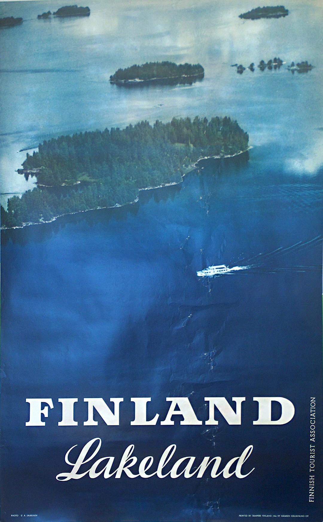 original vintage poster  finland lakeland for sale at