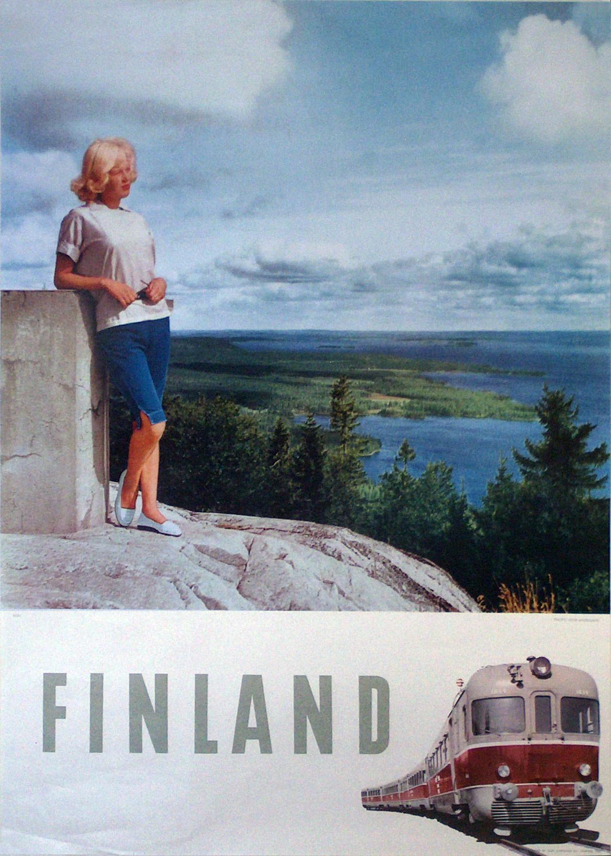 original vintage poster  finland for sale at posterteam com