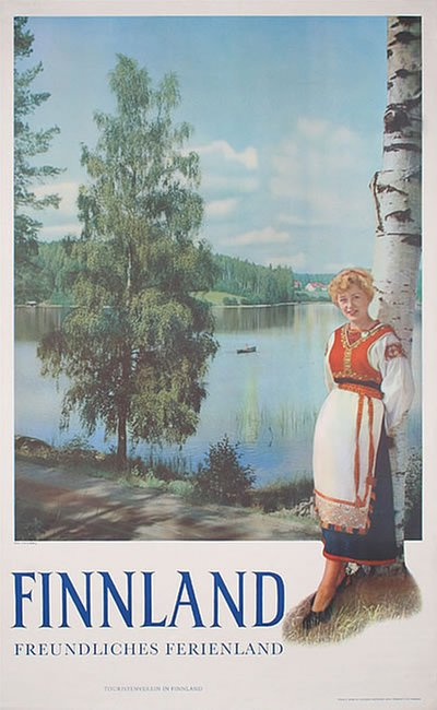 Finnland  poster designed by Runeberg, Fred. (Photo)