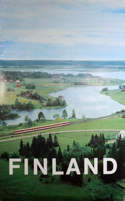 Finland - Travel poster original poster designed by Photo by Eero Aromaa