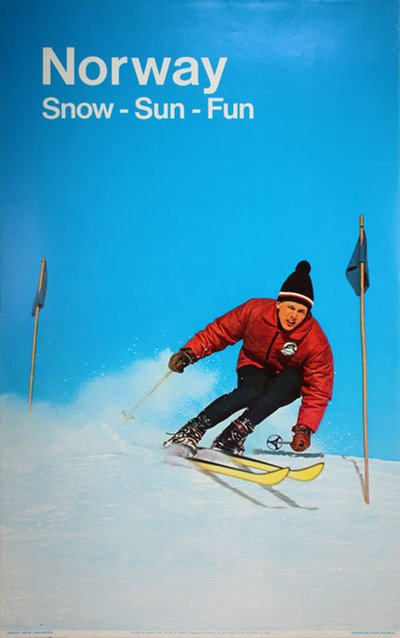 Norway - 1967 - Snow Sun Fun original poster designed by Photo: Knudsen