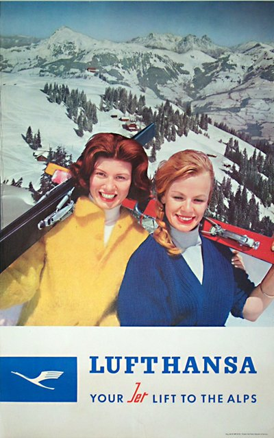 Lufthansa - Your Jet lift to the alps poster