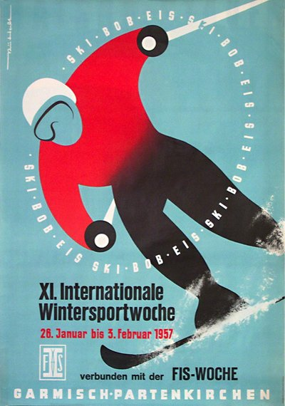 Garmisch-Partenkirchen - XI. Internationale Wintersportwoche  poster