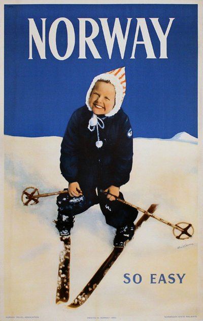 Norway Ski Poster poster designed by Eidem