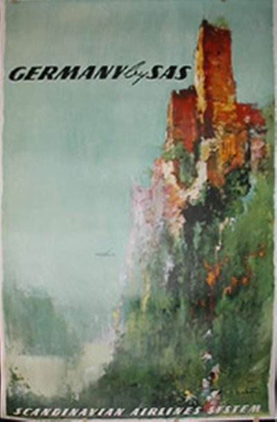 by SAS - Germany original poster designed by Nielsen, Otto (1916-2000)