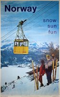 Norway - Snow Sun Fun Ski Poster2