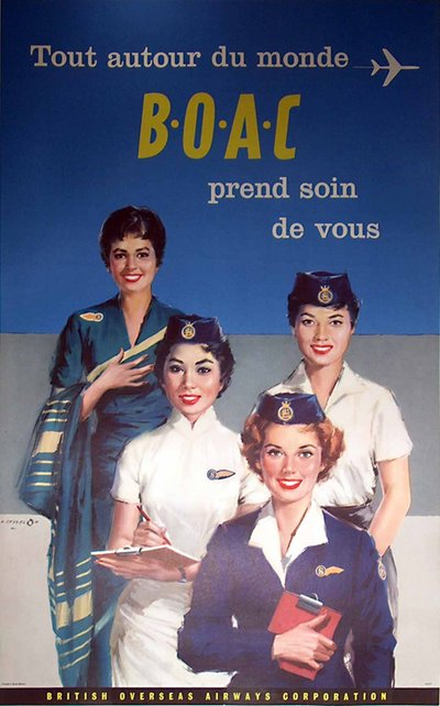 BOAC original poster designed by A. Cessel On