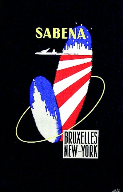Sabena - Bruxelles - New-York