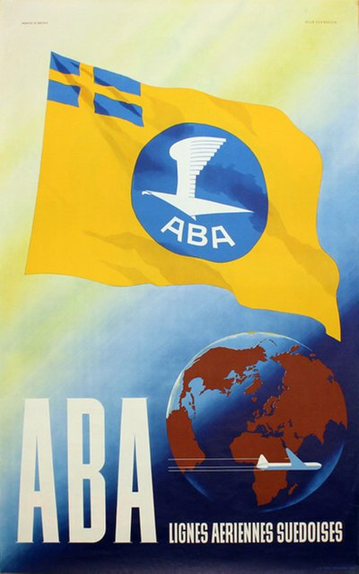 ABA - AB Aerotransport original poster designed by Svensson, Olle